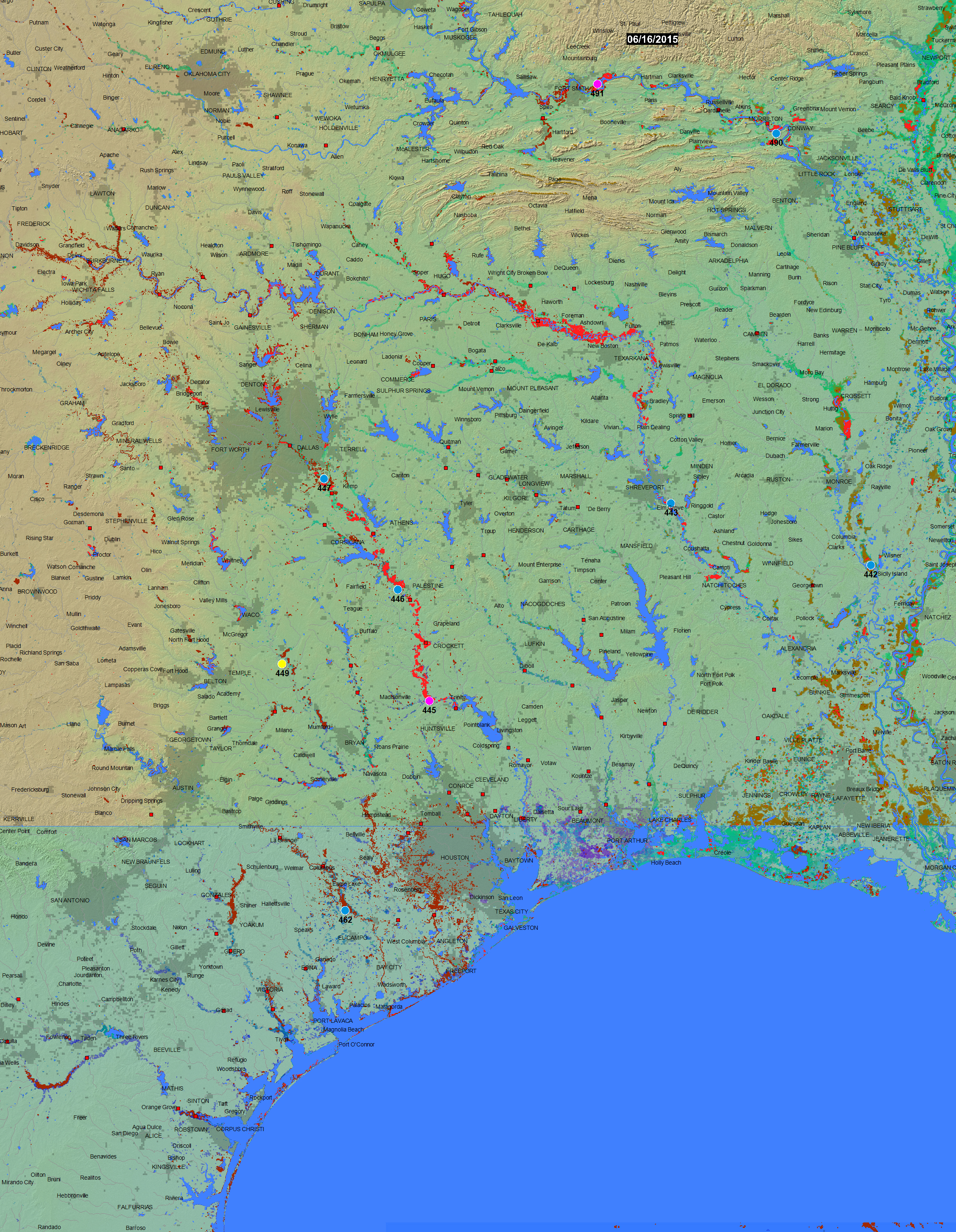 Map Of Texas Flooding Texas Flood Map 2015