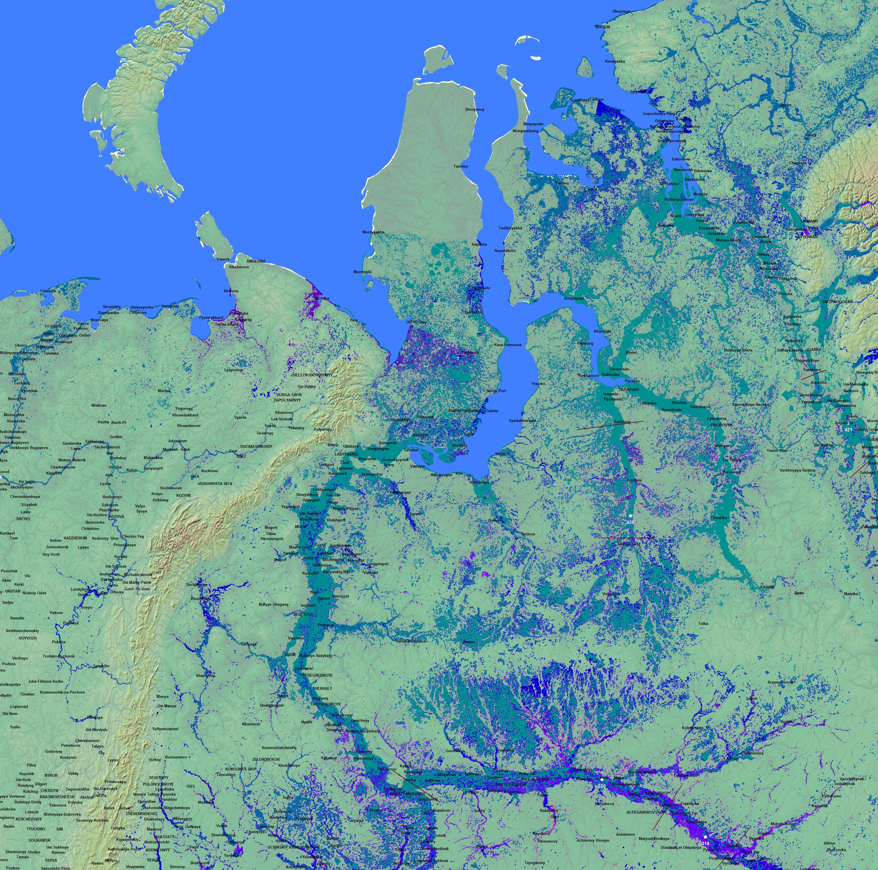 Global Atlas Of Floodplains EN - Colorado river map world atlas