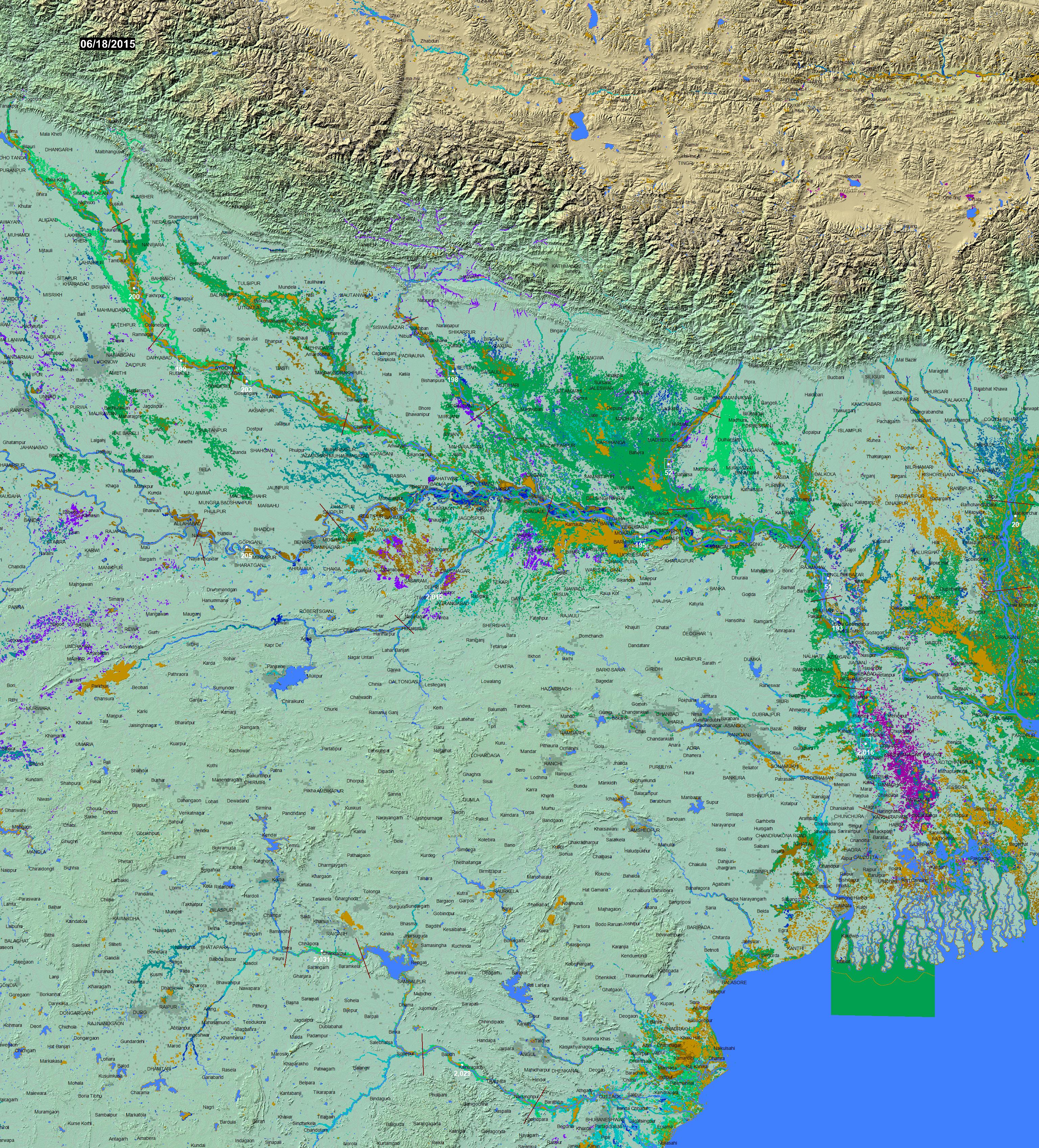 Global Atlas of Floodplains 080E030N on